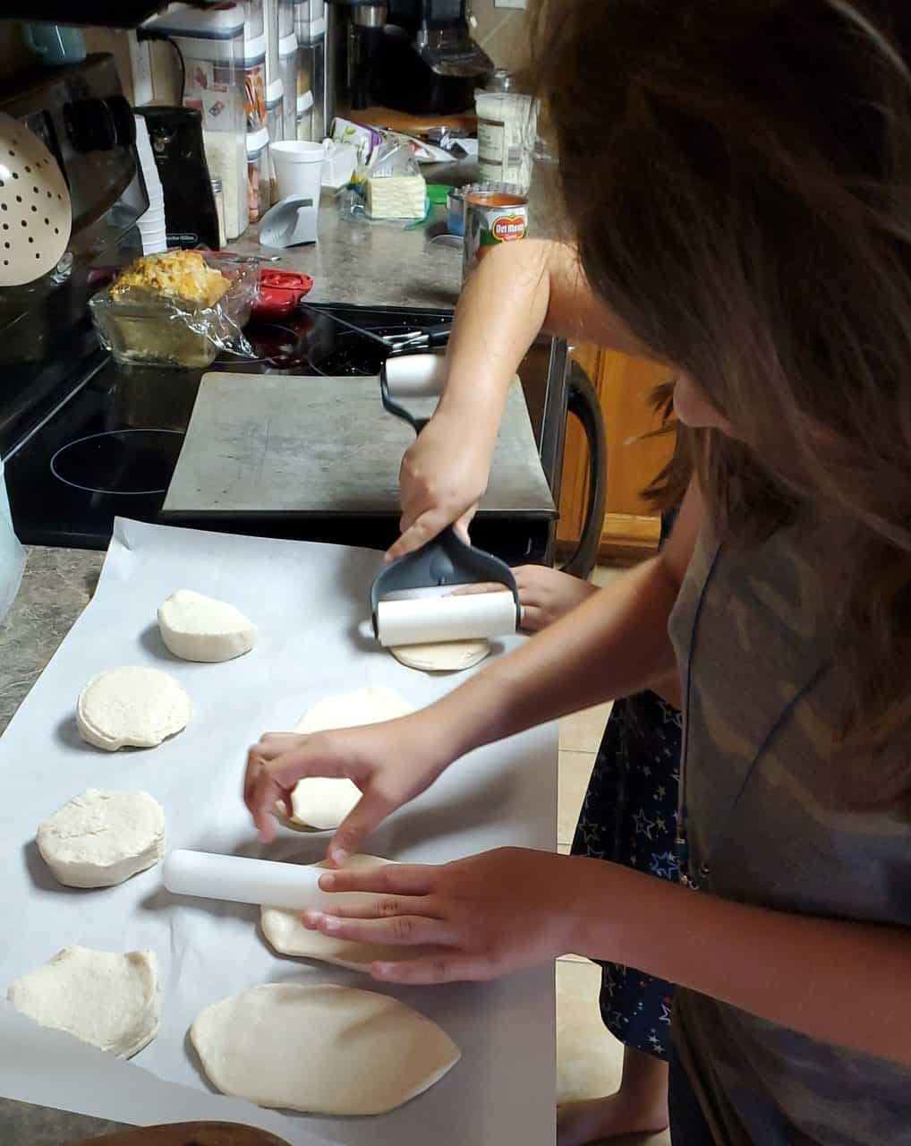 rolling the biscuits flat scaled